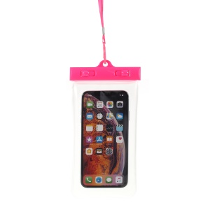Universal Dustproof Phone Case Waterproof Pouch for iPhone Samsung Huawei etc., Size:26.0x14.0x1.5cm - Rose
