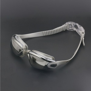 Swimming Goggles Anti-fog UV Protection Leak-proof Glasses for Adults  - Grey