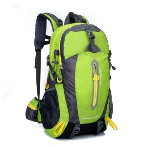 Wear Resistant Waterproof Oxford Cloth Outdoor Backpack with Big Capacity - Green