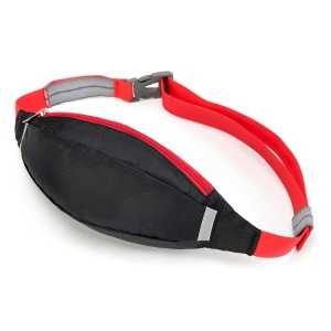 HUWAIJIANFENG Outdoor Sports Waist Pouch Bag with Earphone Hole - Black