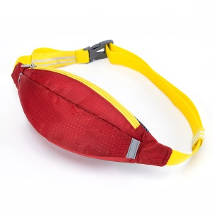 HUWAIJIANFENG Outdoor Sports Waist Pouch Bag with Earphone Hole - Dark Red