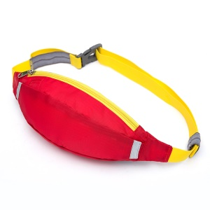 HUWAIJIANFENG Outdoor Sports Waist Pouch Bag with Earphone Hole - Red