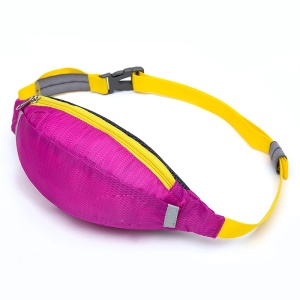 HUWAIJIANFENG Outdoor Sports Waist Sleeve Bag with Earphone Hole - Rose