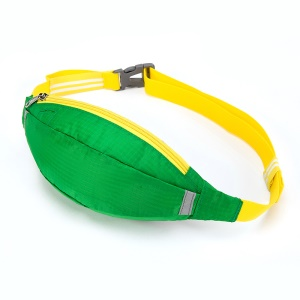 HUWAIJIANFENG Outdoor Sports Leisure Versatile Zippered Waist Bag with Earphone Hole - Dark Green