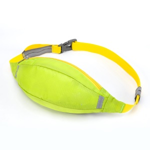 HUWAIJIANFENG Outdoor Sports Waist Pouch Bag with Earphone Hole - Green