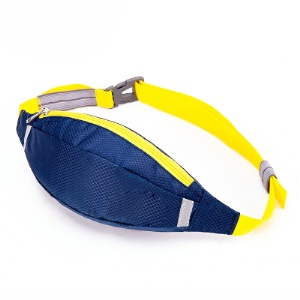 HUWAIJIANFENG Outdoor Sports Running Waist Pouch Bag with Earphone Hole - Sapphire Blue