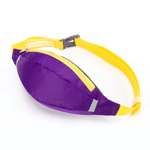 HUWAIJIANFENG Outdoor Sports Waist Pouch Bag with Earphone Hole - Purple