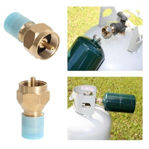 Propane Refill Outdoor Adapter Gas Cylinder Tank Coupler Heater for Hiking, Camping etc.