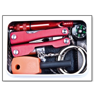 Self Help Outdoor Sporting SOS Survival Emergency Tools Box Kit