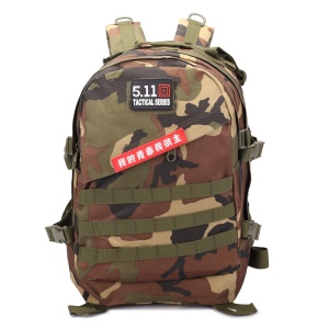 BL003 40L Outdoor Bag MOLLE Military Tactical Backpack Daypack - Jungle Camo