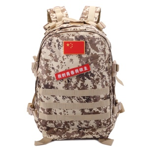 BL003 Outdoor Camping Hiking Daypack MOLLE Military Tactical Backpack - Digital Desert