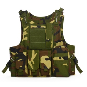 BL042 Combat Game Camouflage Tactical Vest for Outdoor Activities - Jungle Camflouge