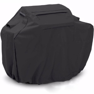Outdoor BBQ Gas Grill Cover for Weber, Jenn Air Etc, Size: 163 x 61 x 122cm - Black