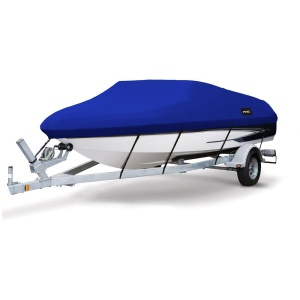 14-16ft Heavy Duty 210D Polyester Canvas Trailerable Waterproof Runabout Boat Cover, Size: 510 x 230cm