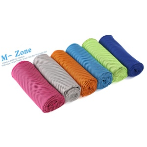 ROMIX 120 x 30cm Sports Gym Cooling Towel with Pop Can - Grey