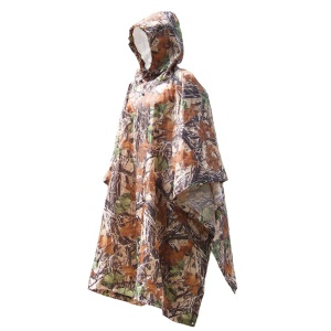 Outdoor Multifunctional Camouflage Raincoat Camping Tent Awning