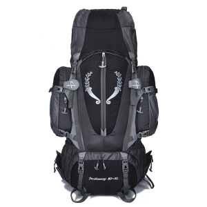 Large 80L Outdoor Waterproof Backpack for Camping Hiking - Black