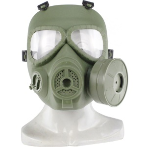 Skull Dummy Gas Mask for Tactical CS Cosplay Halloween - OD Green