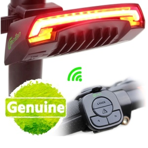 MEILAN X5 USB Rechargeable Wireless Remote Bicycle Laser Rear Tail Light IPX4 Waterproof