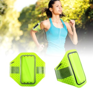 BASEUS Ultra-thin Sports Running Jogging Armbands for iPhone 6s Plus/Samsung S7, Size: 16x8.5cm - Green