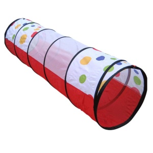 110 x 48cm Polka Dots Play Tunnel Toy Tent Children Kids Popup Discovery Tube