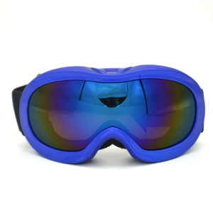 TS002 Double Anti-fog Skating Goggles Children Outdoor Cycling Glasses - Blue