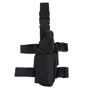 Outdoor Multi-functional Leg Bag Tactical Pouch with Waist Belt - Black