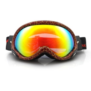 Professional Ultraviolet-proof UV400 Snow Skating Glasses (HE-515) - Red