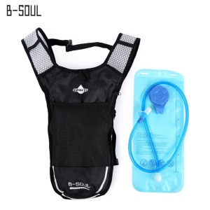 Backpack Water Bag with 2L Hydration Bladder for Hiking Riding Camping - Grey