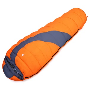HASKY CY-802 Outdoor Camping Cotton Filling Warm Mummy Sleeping Bag - Orange