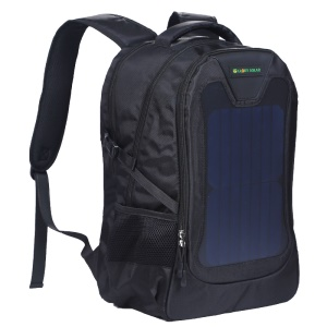 GLORY SOLAR 32L 7.5W Solar Power Charging Panel Backpack Bag for Camping Hiking Outdoor Sports - Black