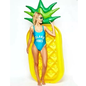 Inflatable PVC Pineapple Pool Lounger Toy Swimming Float Raft, Height: 150cm