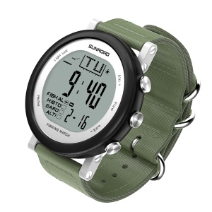 SUNROAD FR721 Outdoor Fishing Digital Barometer Watch with Altimeter/Thermometer Etc - Black