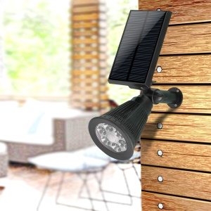 Solar Powered Wall Mount Garden Lawn Motion Sensor LED Lamp 2 in 1 Installation (YH0502C-PIR)