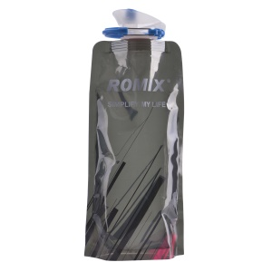 ROMIX RH45 Foldable Sports Water Bottle 0.7L Drinking Bottle with Carabiner for Travel - Black
