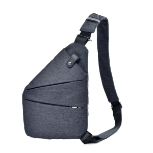 Multipurpose Anti Theft Crossbody Pack Daypack Bag Lightweight Casual Outdoor Travel Sling Bag - Grey