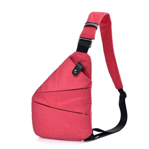 Fashion Waterproof Anti Theft Crossbody Bag Lightweight Casual Outdoor Travel Sling Bag - Right Shoulder / Red