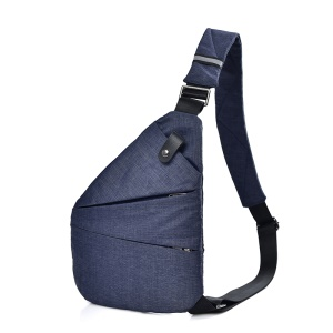 Casual Crossbody Pack Daypack Bag Anti Theft Lightweight Outdoor Travel Sling Bag - Right Shoulder / Blue
