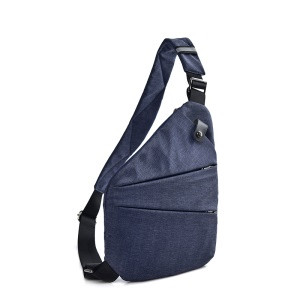 Trendy Anti Theft Lightweight Crossbody Pack Daypack Bag Casual Outdoor Travel Sling Bag - Left Shoulder / Blue