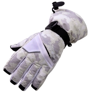 TUBAN 1 Pair Winter Riding Skiing Gloves Full Finger Wind-proof Gloves for Adults - Light Purple / Size: L