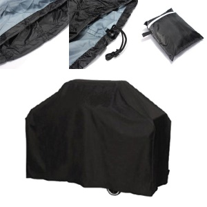 Black Ultraviolet-proof Waterproof BBQ Cover Heavy-Duty Barbeque Cover Grill Cover, Size: 150 x 100 x 125CM