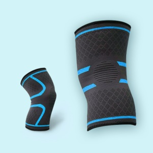 2-Piece Men and Women Compression Anti Slip Joint Pain Relief Knee Braces Workout Jogging Basketball Cycling - XL / Blue