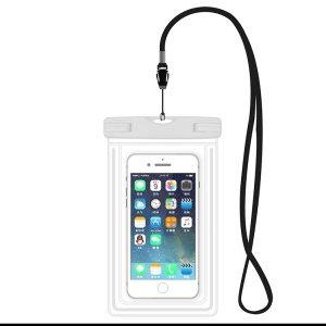ETS-003 Noctilucent Waterproof Bag Case with Strap for iPhone 7 Plus - White