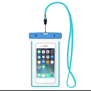 ETS-003 Noctilucent Waterproof Bag Case with Strap for iPhone 7 Plus - Blue