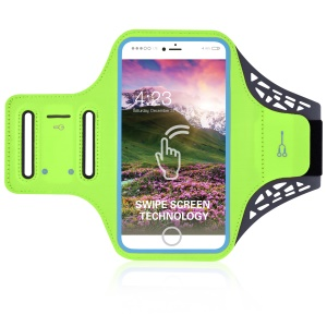 BDD-061Z 5.5-inch Gym Running Jogging Sports Armband Case for iPhone 8 Plus/7 Plus/6/6s Plus 5.5 inch etc - Green