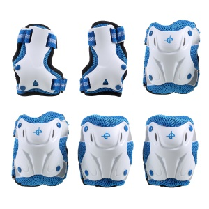 6Pcs/Set Children's Skateboard Roller Skating Knee Elbow Wrist Protector Guard Pads Kit for Age 3-7 Years Old
