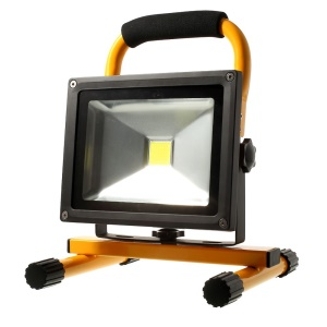 Portable Rechargeable 20W 11.1V 7800mAh Cool White LED Flood Light Waterproof IP65 - Yellow