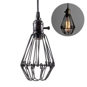 Vintage Style Mini Cage Hanging Sconce Light Pendant