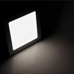 15W 2835 LED Square Panel Light Recessed Ceiling DownLight Bulb - White