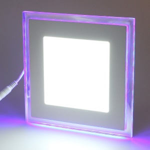 White 20W 100-Led 1700LM Tow-tone Square LED Ceiling Panel Light Lamp